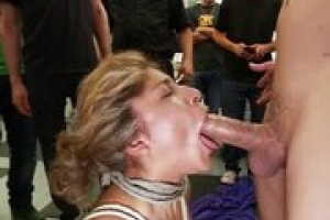 Filthy whore gets fucked in a hair salon