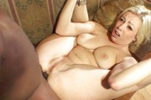 Busty blonde Adrianna Nicole takes black dick